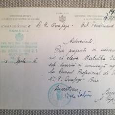 1943, Adev. Școală Coafeze, Serv. Înv. Muncitoresc, E. Matulka,  A. Căpșuneanu