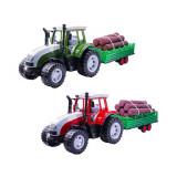 Tractor cu remorca si lemne, 57 cm