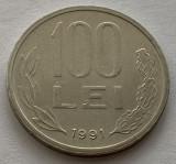 "100 Lei 1991 Romania, varianta ""99"" cu codita rotunjita, RARA!, tip A"