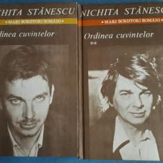 Nichita Stanescu - Ordinea cuvintelor (2 vol.), Alta editura