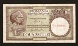 ROMANIA - 20 LEI 1947 1948 1949 1950 - ALEXANDRINI  / PANAIT . Fil  MF  vertical