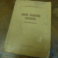 Chimie analitica calitativa de Acad. prof. Raluca Ripan/Ervin Popper 1954