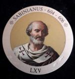 Italia Medalie Argint 925 marcat - Papa Sabinianus, Europa