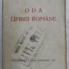 ODA LIMBEI ROMANE de VICTOR EFTIMIU , 1927