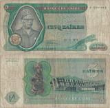 1974 ( 30 XI ) , 5 zaïres ( P-21a.1 ) - Zair