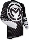 Tricou motocross Moose Racing Qualifier Stealth culoare negru/alb marime M Cod Produs: MX_NEW 29104488PE