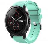 Curea ceas Smartwatch Samsung Gear S3, iUni 22 mm Silicon Light Blue