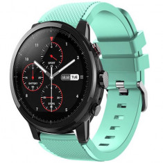 Curea ceas Smartwatch Samsung Gear S3, iUni 22 mm Silicon Light Blue