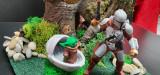 Diorama Star Wars, Mandalorian, Baby Yoda, (Macheta, Decoratiune)