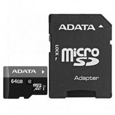 Micro sdxc adata 64gb ausdx64guicl10-ra1 clasa 10 adaptor sd (pentru telefon)