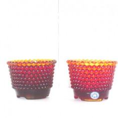Lanterne candele pastile cristal amberina - Pearl - design Monica Bratt, Rejmyre
