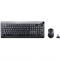 Kit tastatura + mouse A4Tech V-Track, 2.4G, 6100F RF Nano, Wireless, Negru