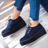 Pantofi cu platforma dama albastri Kalisa