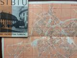 sibiu si imprejurimi mic indreptar turistic editura meridiane 1962 harta foto