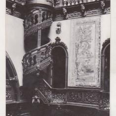 Bnk cp Sinaia - Muzeul Peles - Holul de onoare (detaliu ) - necirculata, Printata