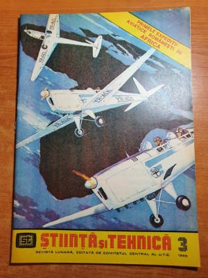 stiinta si tehnica martie 1985-primele expeditii aviatice romanesti in africa foto