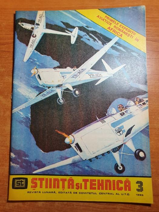 stiinta si tehnica martie 1985-primele expeditii aviatice romanesti in africa
