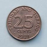 TRINIDAD  TOBAGO  -  25 Cents 1971