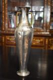 Vaza din metal argintat cu toarte de bronz - Jungendstil cca. 1900