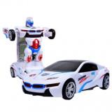 Robot transformabil in masina , cu baterii, sunete si luminite
