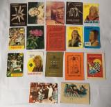 Lot 17 calendare de buzunar anii 1986- 1987, colectie, vintage