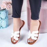 Papuci dama albi Danelia-rl