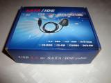 Convertor adaptor HDD IDE ATA SATA la usb alimentator 12v 5v molex