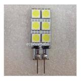 Bec LED 2W 12LED SMD Bulb 12V G4 Alb Rece, Becuri LED
