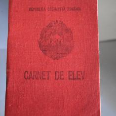 Carnet de Elev - RSR - Liceul Mihai Eminescu Iasi 1979