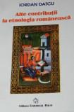 Alte contributii in etnologia romaneasca