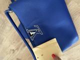 Geanta Louis Vuitton, piele naturală, replica1:1, Albastru, Medie