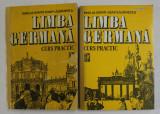LIMBA GERMANA - CURS PRACTIC , VOLUMELE I - II de EMILIA SAVIN si IOAN LAZARESCU , 1992 , COTORUL ESTE LIPIT CU SCOCI