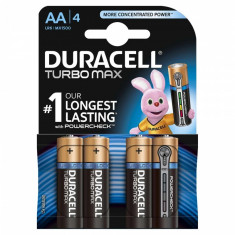 Set 4 baterii Duracell Turbo Max, tip AA