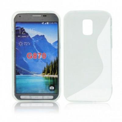 Husa Silicon S-Line Sam Galaxy S5 Activ G870 Transparent foto