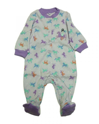 Salopeta / Pijama bebe cu caluti Z32 foto