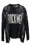 Pulover dama Rock Me Sublevel, tricotat, Negru