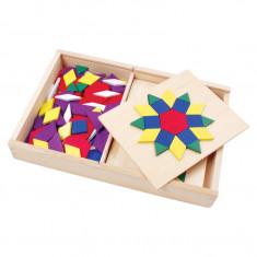 Set mozaic din lemn