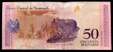 Venezuela 50 Bolivares Soberano 15 ianuarie 2018 UNC  - necirculata **