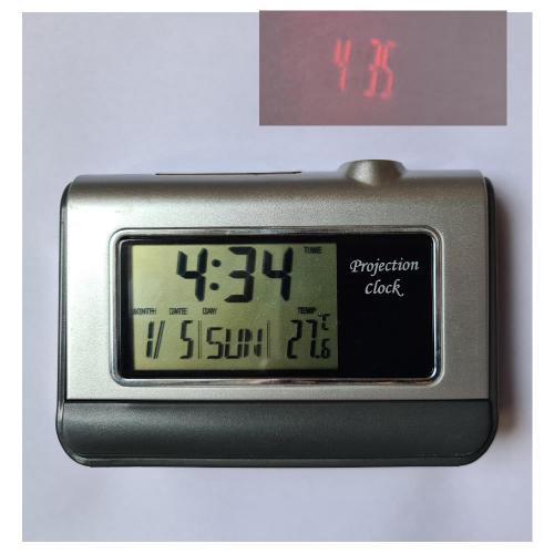 Ceas cu proiectiecu pe perete, tavan afisaj LCD pentru ora, data, si lumina de noapte
