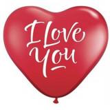 """Baloane latex in forma de inima """"I Love You"""" - 25 cm, Radar ACRI.LOV"""