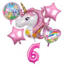 Set 6 baloane folie Unicorn magic My Little Pony cifra 6 117 x 85 cm