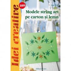 Modele string art pe carton şi lemn - Idei creative 109