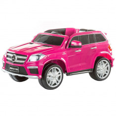 Masinuta electrica Premier Mercedes GL63, 12V, roti cauciuc EVA, scaun piele ecologica, roz