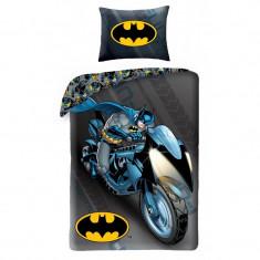 Lenjerie de pat copii Cotton Batman BM-4005BL