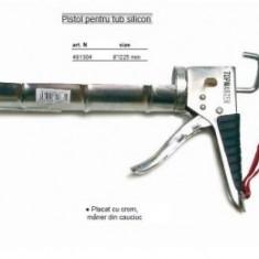 Pistol cromat cu maner cauciucat pentru silicon, TopStrong