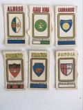 6 stickere fotbal Panini Calciatori 1978-79, sigle / embleme echipe fotbal