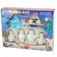 Set cadou pictura Mos Craciun pentru decorat bradul - Jucarie creativa copii