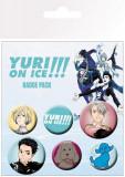 Set 6 insigne - Yuri on ice mix | GB Eye