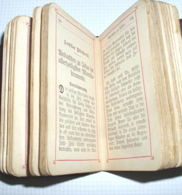 carte veche mica din  1897 de rugaciuni religie foto