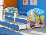 Patut Tineret MyKids Fire Station cu Sertar si Saltea 160x80